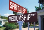 Cassadaga Spiritualist Camp in Central Florida: The junction of Spiritualist Street and Mediumship Way